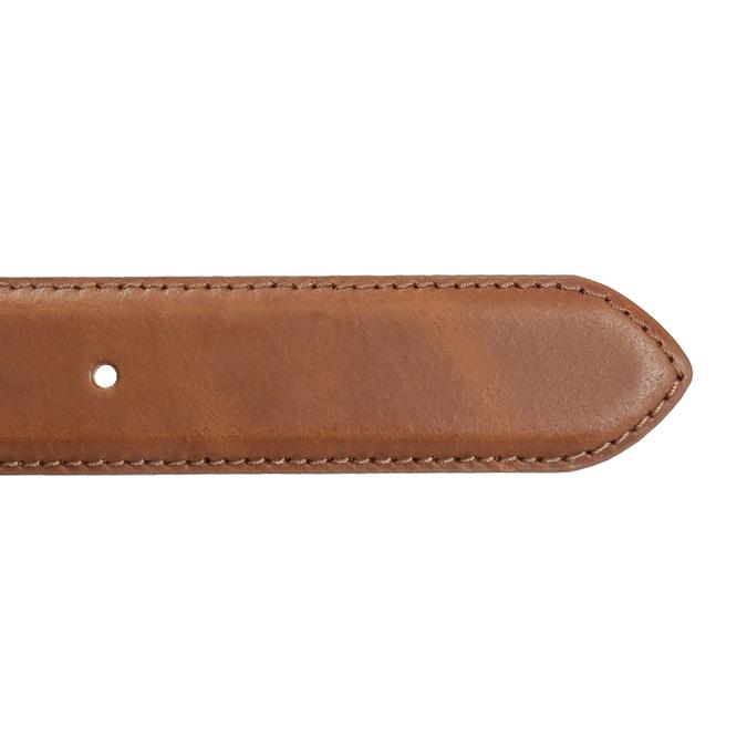 Brązowy skórzany pasek męski bata, brązowy, 954-4153 - 16