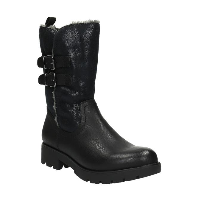 Stylowe damskie kozaki bata, czarny, 599-6610 - 13