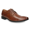 Brązowe skórzane półbuty męskie bata, brązowy, 826-3758 - 13