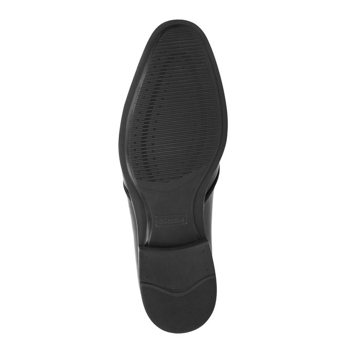 Czarne półbuty ze skóry bata, czarny, 824-6754 - 26