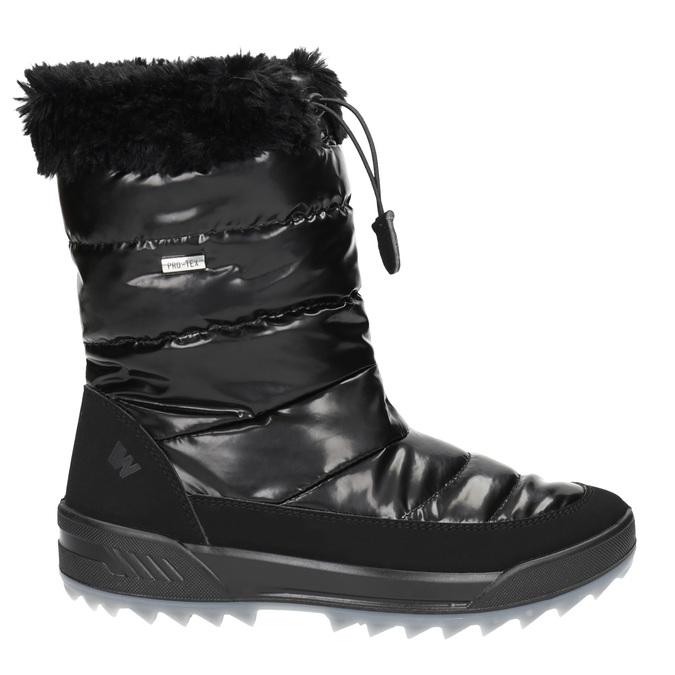 Czarne śniegowce zfuterkiem weinbrenner, czarny, 591-6617 - 15