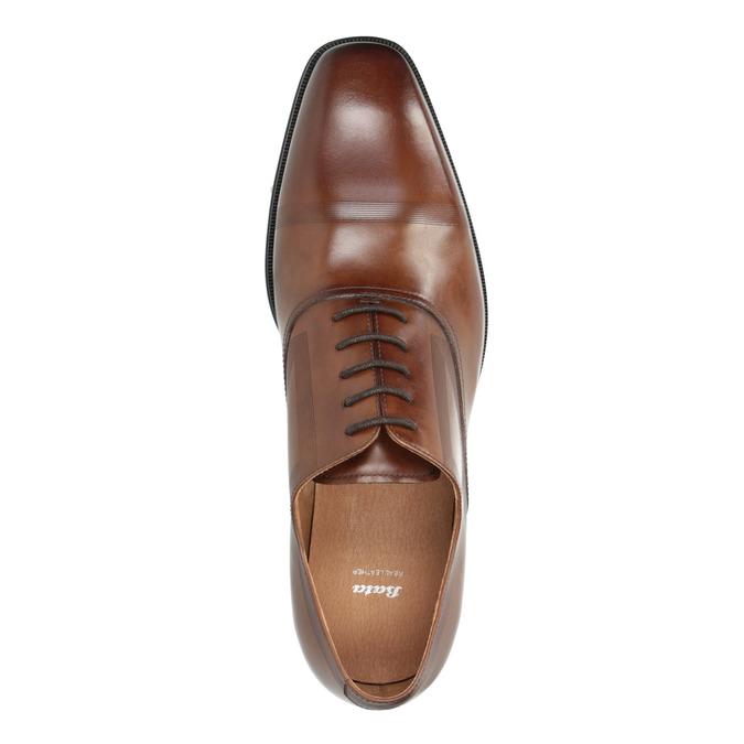 Brązowe skórzane półbuty typu oksfordy bata, brązowy, 826-3810 - 19