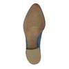 Skórzane botki zperforacją bata, niebieski, 596-9647 - 26