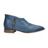 Skórzane botki zperforacją bata, niebieski, 596-9647 - 15