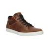 Skórzane trampki za kostkę bata, brązowy, 844-3631 - 13