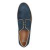 Nieformalne półbuty ze skóry bata, niebieski, 843-9623 - 19