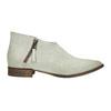 Skórzane botki zperforacją bata, biały, 596-1647 - 15