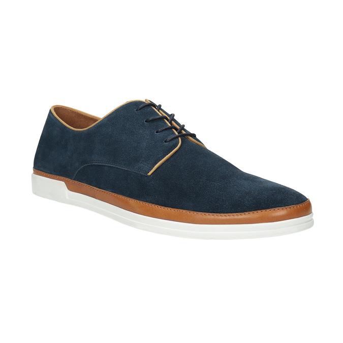 Nieformalne półbuty ze skóry bata, niebieski, 843-9623 - 13
