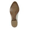 Skórzane botki zperforacją bata, biały, 596-1647 - 26