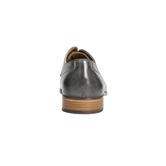 Skórzane męskie półbuty Ombré bata, szary, 826-2794 - 17