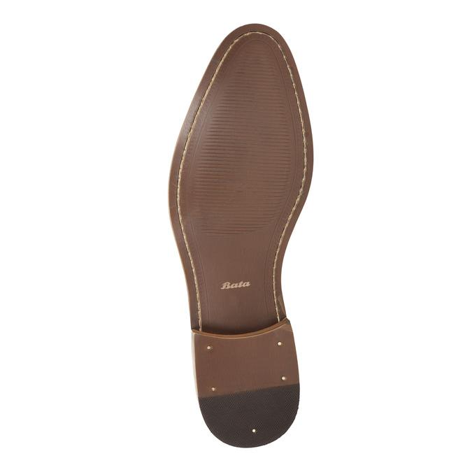 Skórzane męskie półbuty Ombré bata, szary, 826-2794 - 26