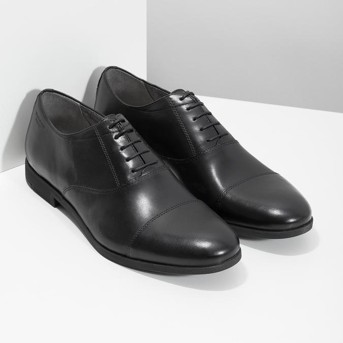 Czarne skórzane półbuty typu oksfordy vagabond, czarny, 824-6048 - 26