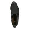 Czarne skórzane botki bata, czarny, 596-6633 - 19