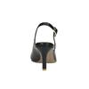 Skórzane czółenka w stylu Sling-back pillow-padding, czarny, 624-6638 - 17