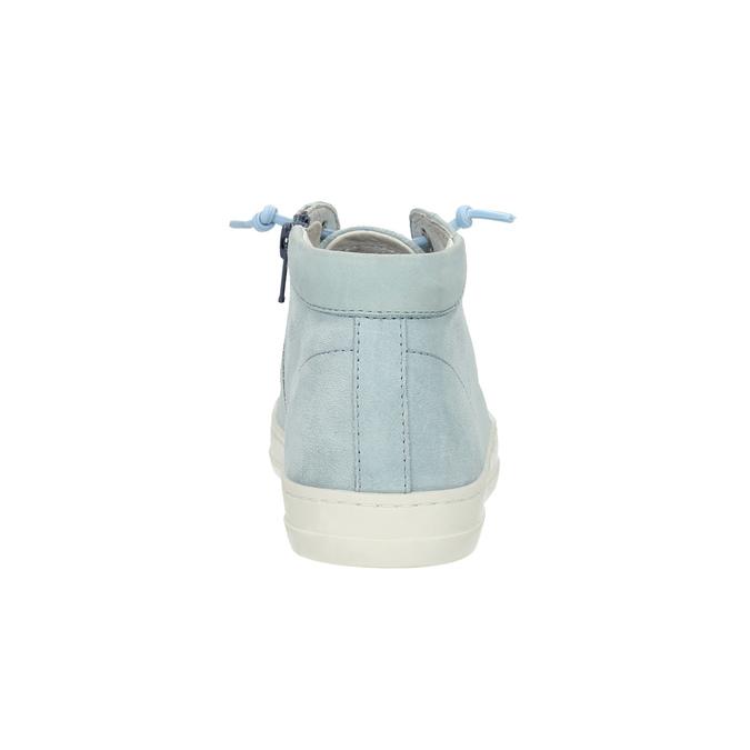 Damskie skórzane trampki do kostki bata, niebieski, 523-9602 - 17