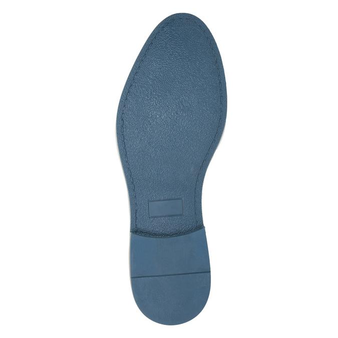 Czarne półbuty męskie ze skóry bata, niebieski, 826-6793 - 26