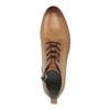 Skórzane botki zperforacją bata, brązowy, 596-4645 - 19