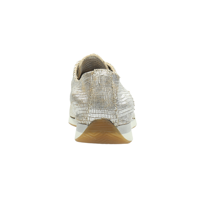 Złote trampki ze skóry bata, srebrny, 526-8633 - 17