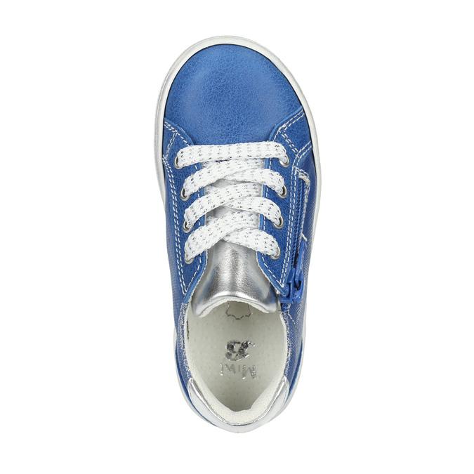 Dziecięce skórzane buty sportowe mini-b, niebieski, 226-9600 - 19