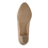 Skórzane czółenka na niewielkim obcasie pillow-padding, beżowy, 626-8637 - 26