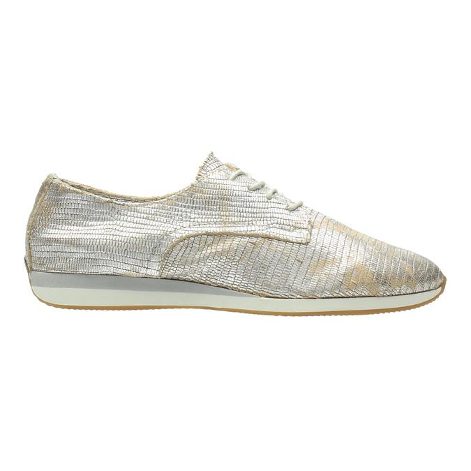 Złote trampki ze skóry bata, srebrny, 526-8633 - 15