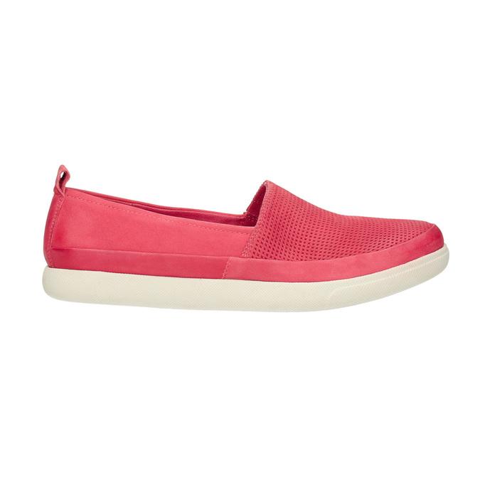 Skórzane buty z perforacją bata, różowy, 516-5601 - 15