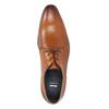 Brązowe skórzane półbuty typu angielki bata, brązowy, 826-3804 - 19