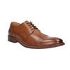 Brązowe skórzane półbuty typu angielki bata, brązowy, 826-3812 - 13