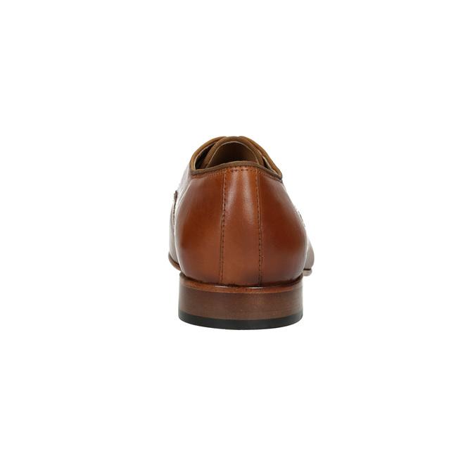 Półbuty męskie ze skóry bata, brązowy, 826-3836 - 17