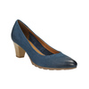 Damskie skórzane czółenka bata, niebieski, 626-9639 - 13