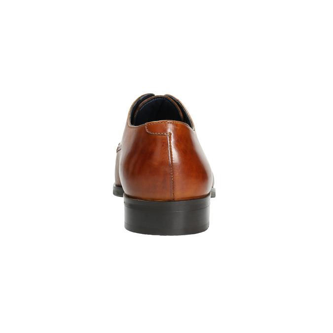 Brązowe skórzane półbuty typu angielki bata, brązowy, 826-3804 - 17