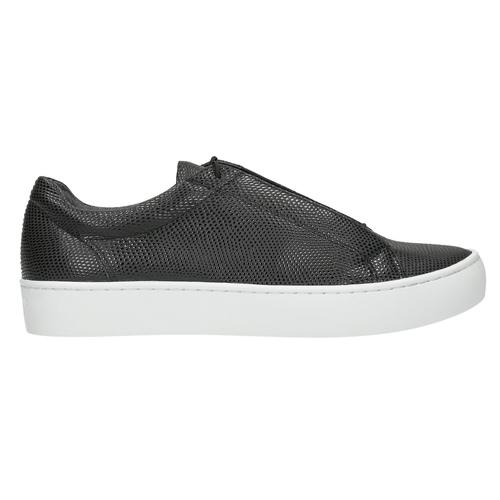 Czarne skórzane buty sportowe vagabond, czarny, 624-6014 - 15