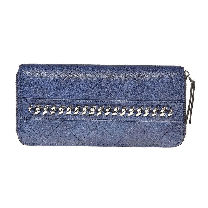 Pikowany portfel damski bata, niebieski, 941-9146 - 17