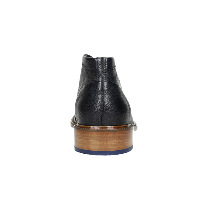 Buty za kostkę wykonane w całości ze skóry bata, niebieski, 826-9909 - 17