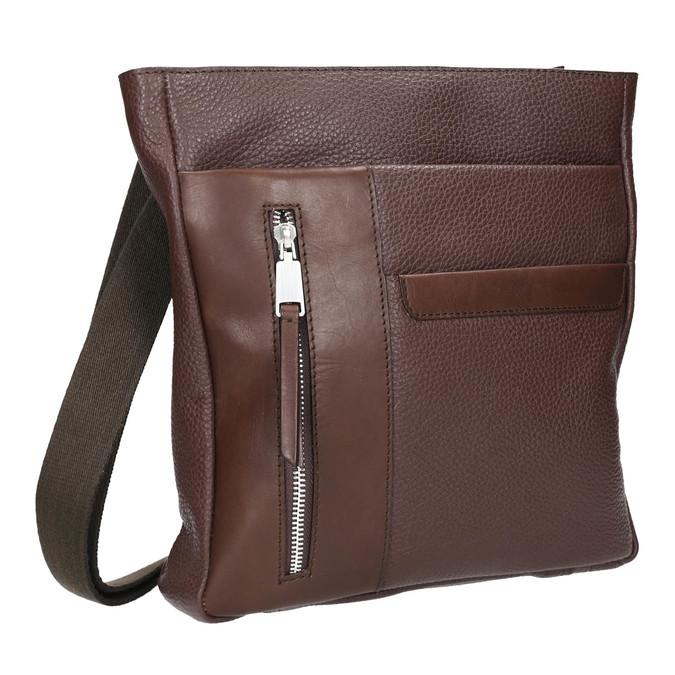 Skórzana torba męska typu crossbody bata, brązowy, 964-4230 - 13