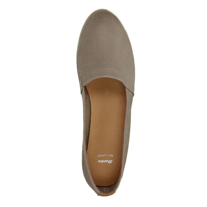 Damskie skórzane buty Slip On bata, brązowy, 516-2602 - 19
