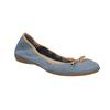 Skórzane niebieskie baleriny zelastyczną lamówką bata, niebieski, 526-9617 - 13