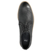 Skórzane półbuty męskie zkontrastowymi przeszyciami bata, czarny, 826-6815 - 19