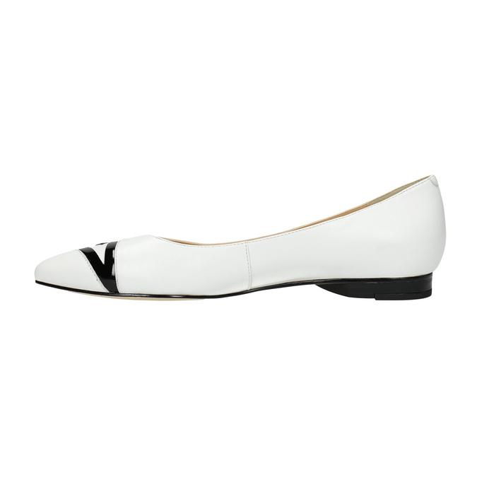Skórzane damskie baleriny bata, biały, 524-1602 - 26