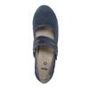 Niebieskie skórzane czółenka oszerokościH bata, niebieski, 623-9600 - 19