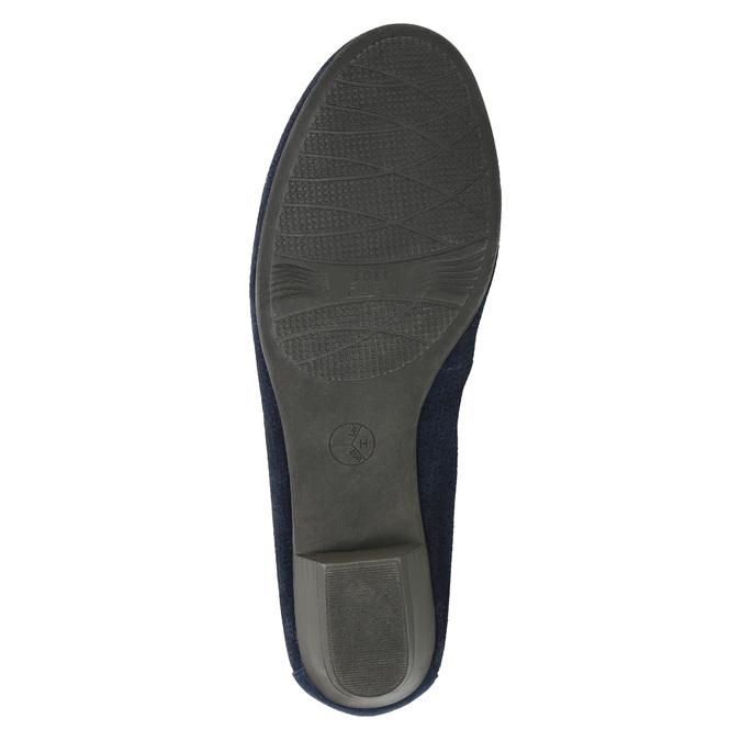 Skórzane czółenka oszerokościH bata, niebieski, 623-9601 - 26