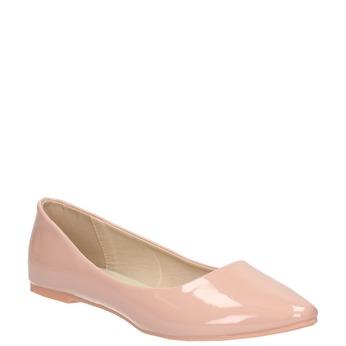 Lakierowane damskie baleriny bata, różowy, 521-5602 - 13