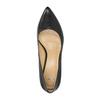 Skórzane czółenka w szpic bata, czarny, 624-6632 - 19