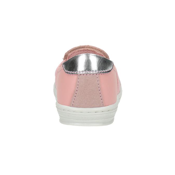 Dziecięce skórzane buty Slip-on bubblegummer, różowy, 123-5600 - 17