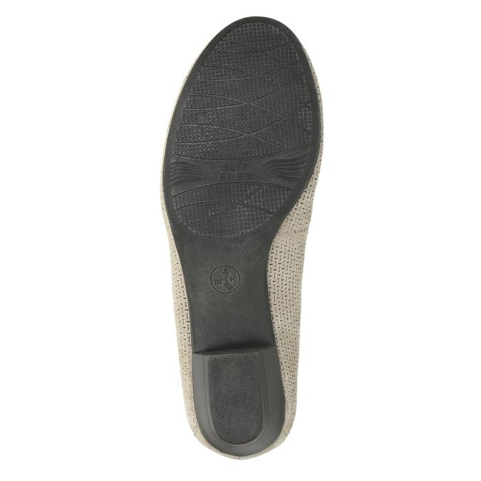 Skórzane czółenka oszerokościH bata, szary, 623-2601 - 26