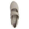 Skórzane czółenka oszerokościH bata, szary, 623-2600 - 15