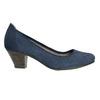 Skórzane czółenka oszerokościH bata, niebieski, 623-9602 - 15