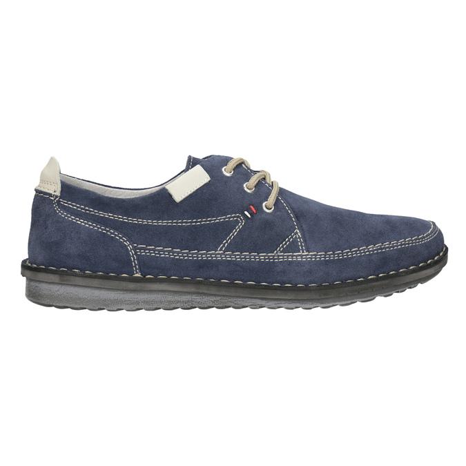 Nieformalne zamszowe półbuty bata, niebieski, 853-9612 - 26