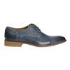 Niebieskie półbuty ze skóry bata, niebieski, 826-9801 - 15