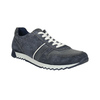Skórzane trampki męskie bata, niebieski, 843-9624 - 13